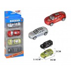 Alloy Model Toy Car with Pull Back (4 cars set) 8x3x3.5cm