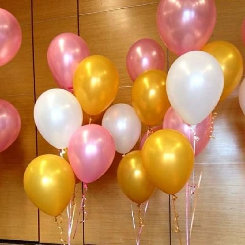 "12"" Round Latex Balloon Pearl Metalic Colour"