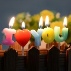 Lovers Birthday Candle  i love you (13.5x9x2cm)