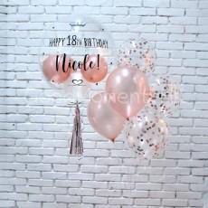 Customise Crystal Balloon & Balloon Bunch