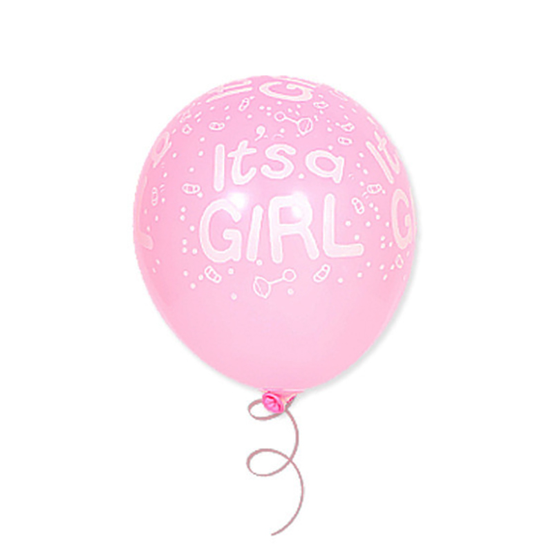 "12"" latex balloon - it is a boy | it is a gril (10pcs/bag)"
