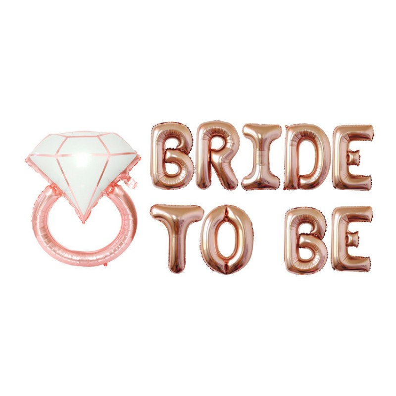 "16"" BRIDE TO BE foil balloon set"