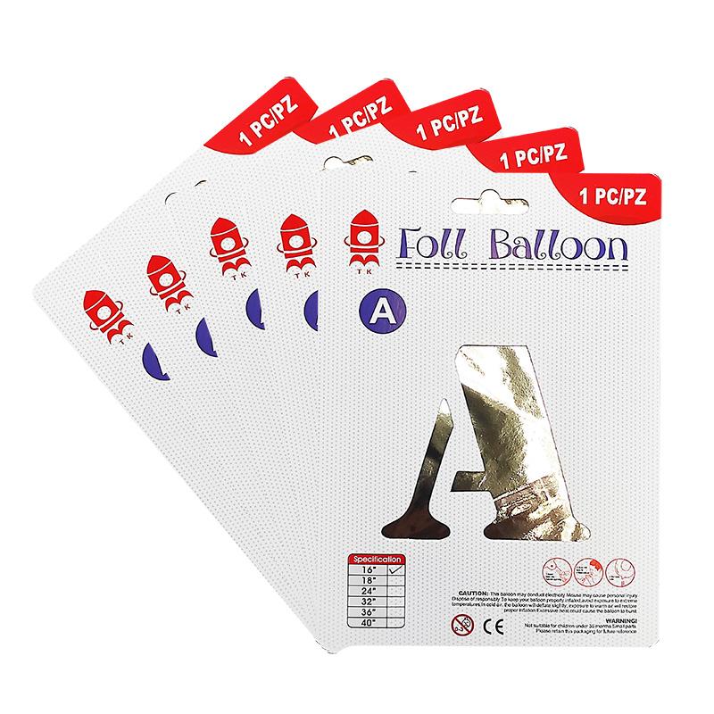 """16"""" Silver Alphabet Foil Balloon A-Z"""