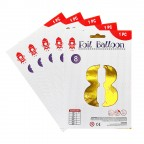 """16"""" Gold Number Foil Balloon 0-9"""