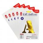 "16"" Gold Alphabet Foil Balloon A-Z"