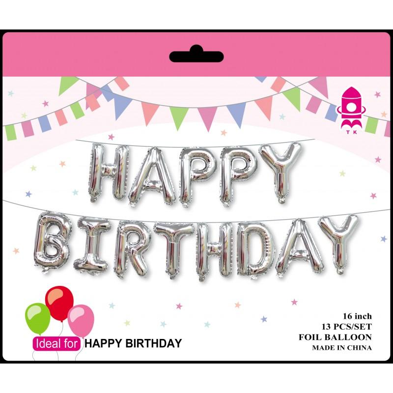 "16"" Happy Birthday Foil Balloon Set"