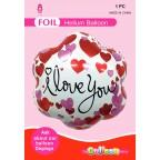 """18"""" Flower Shape Foil Balloon I Love You"""
