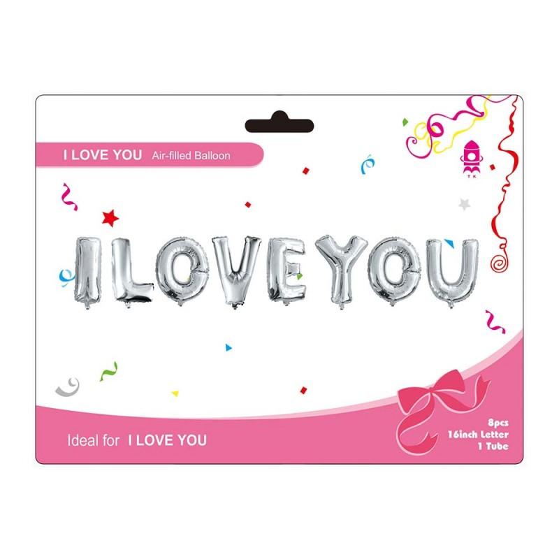 "14"" I Love You foil balloon"