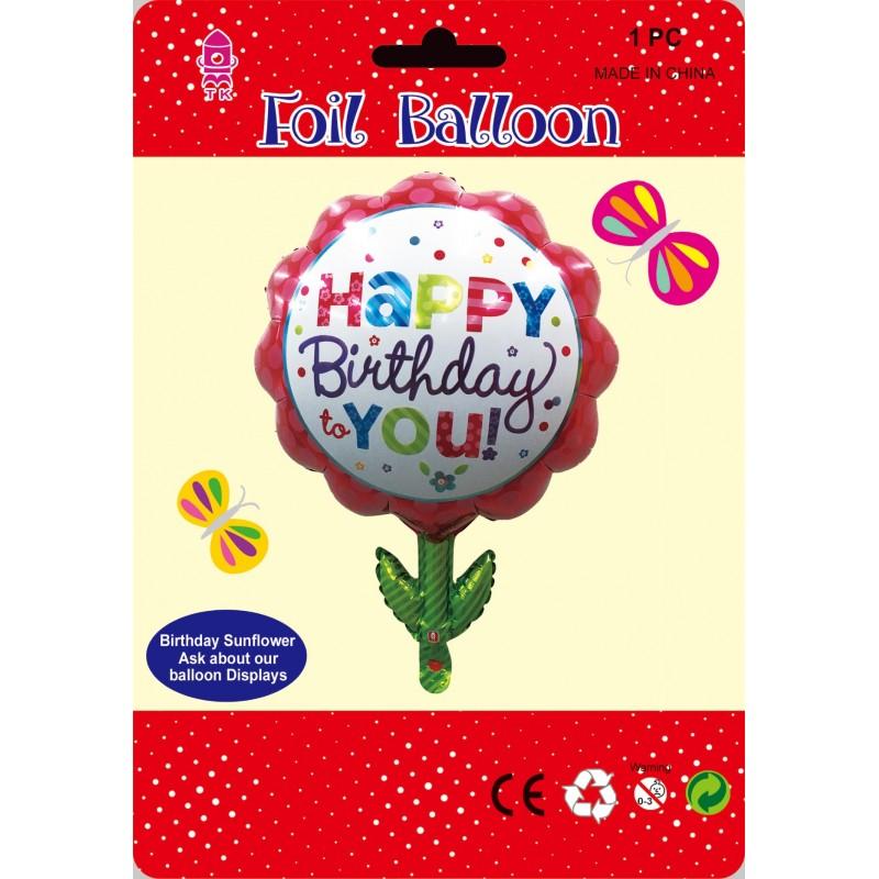 Sun Flower Happy Birthday Foil Balloon 55x70cm